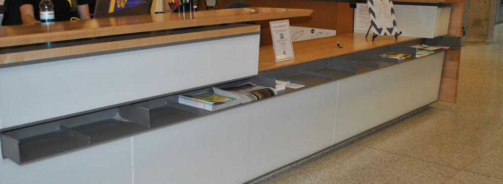 Main Desk Literature Bins