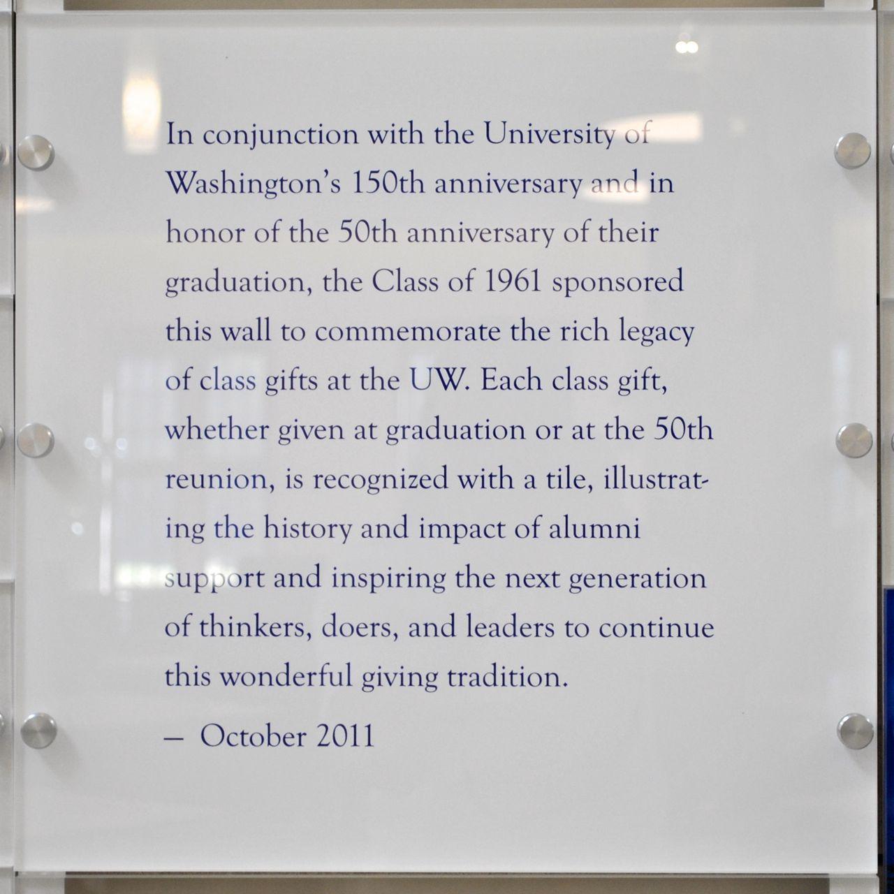 HUB Class Gifts Description