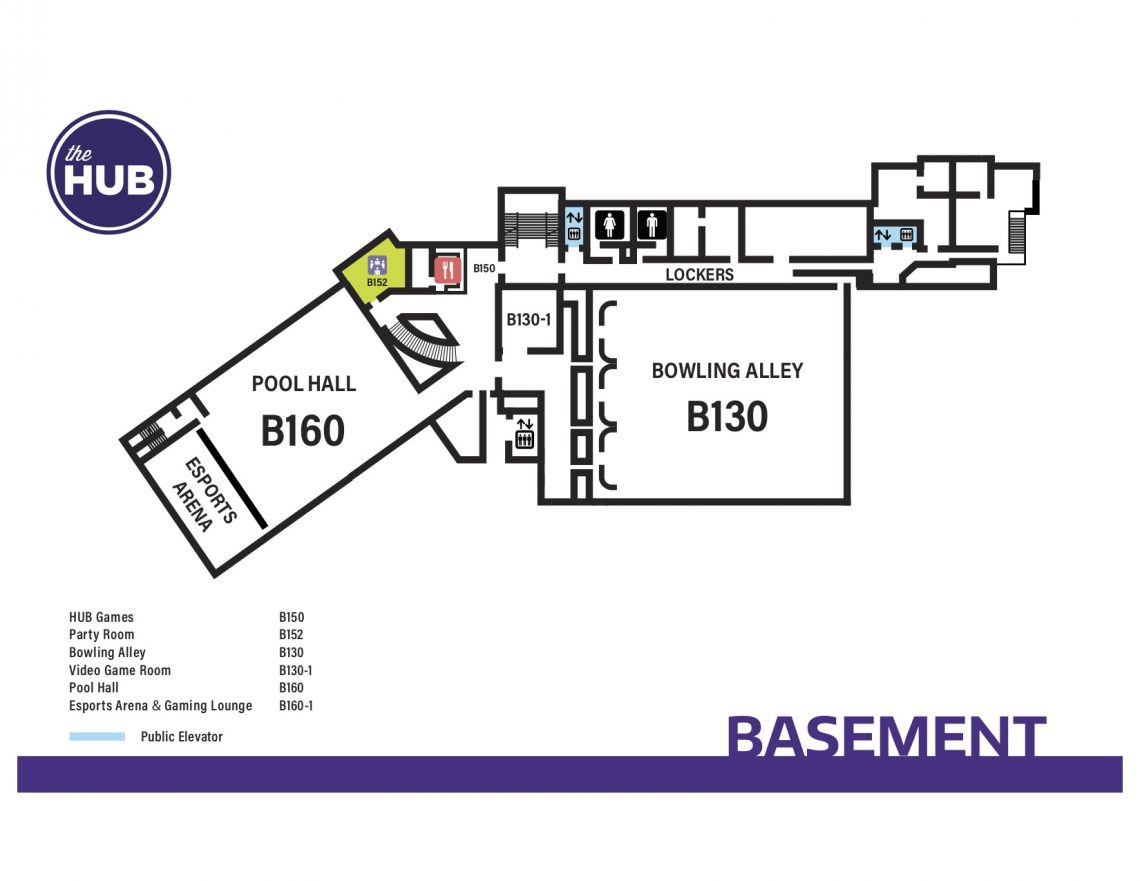 HUB Basement Floor Map