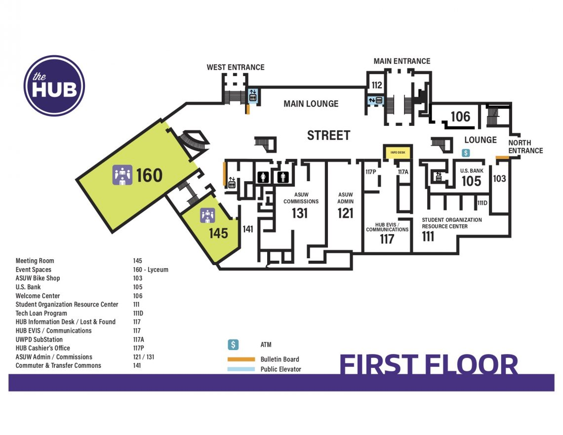 HUB First Floor Map