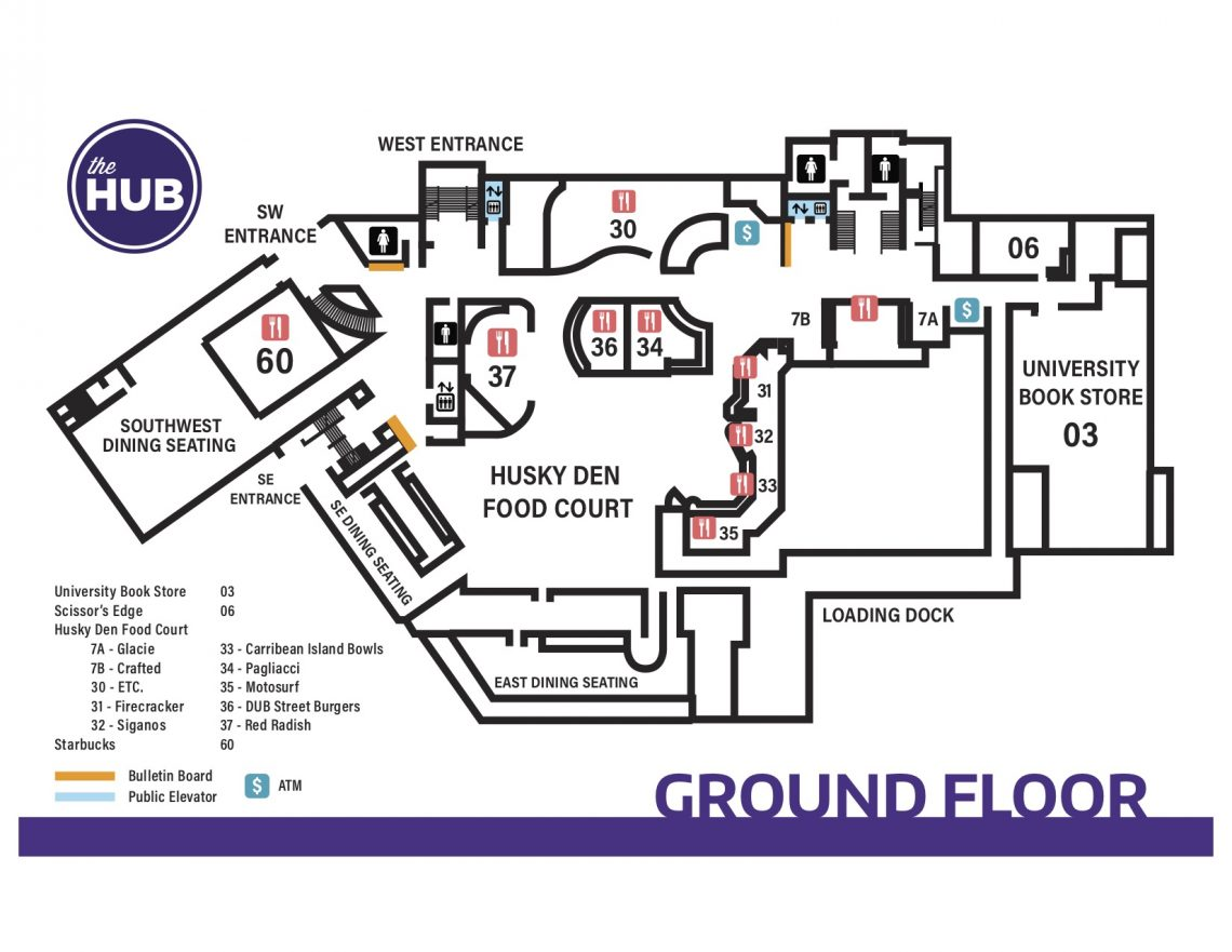 HUB Ground Floor Map