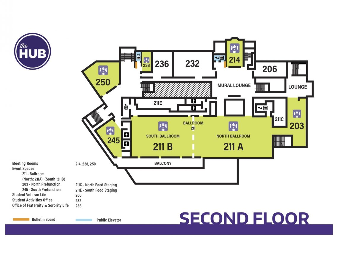 HUB Second Floor Map