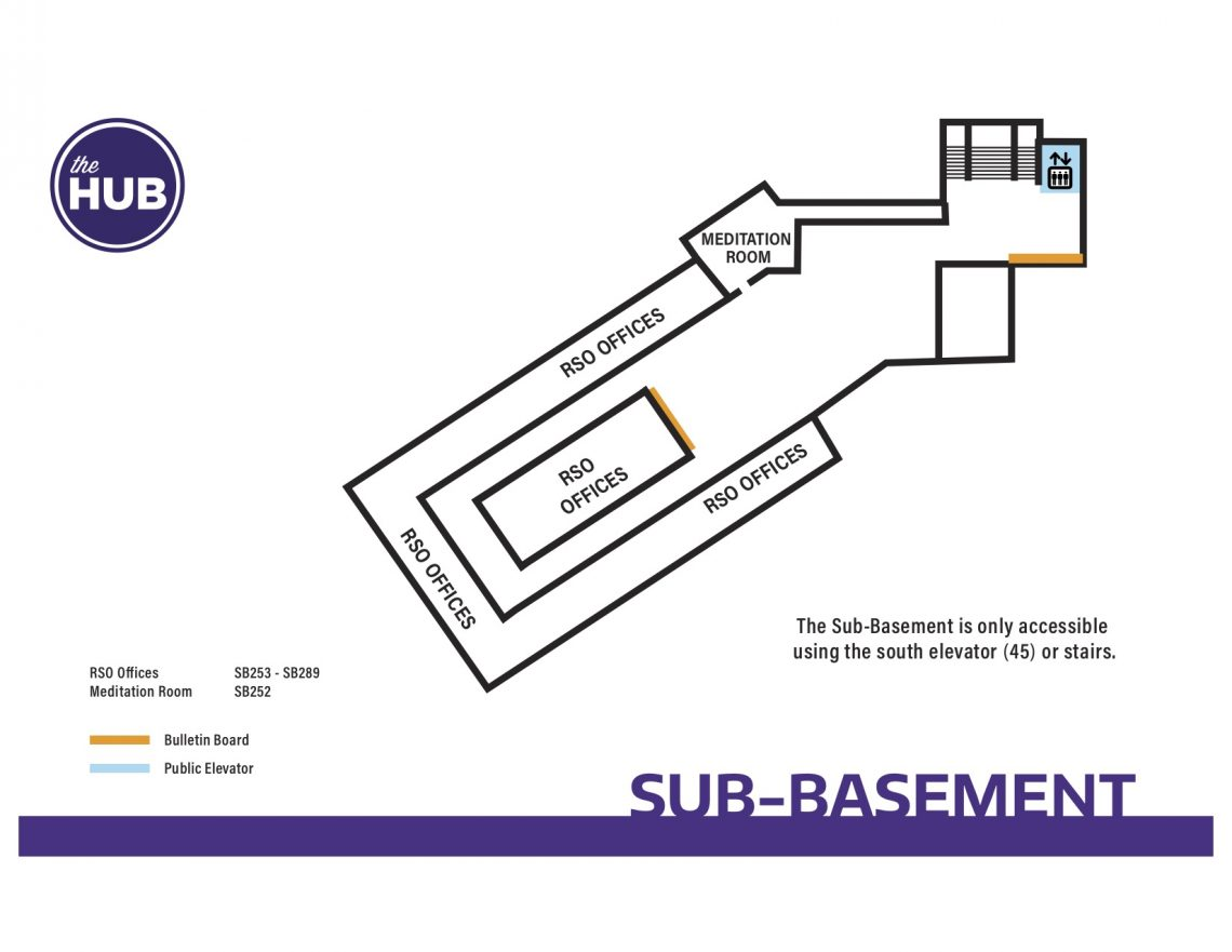 HUB Sub-Basement Floor Map