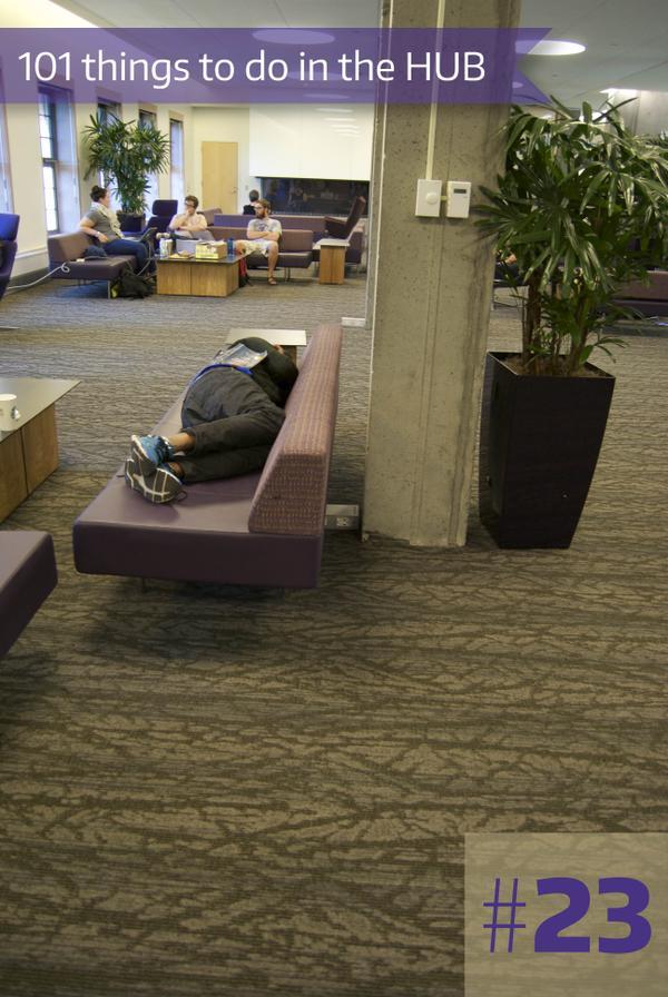 23-Sleep in the HUB Lounges