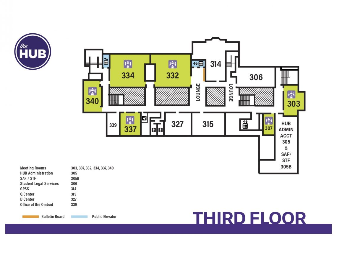 hub third floor map the hub