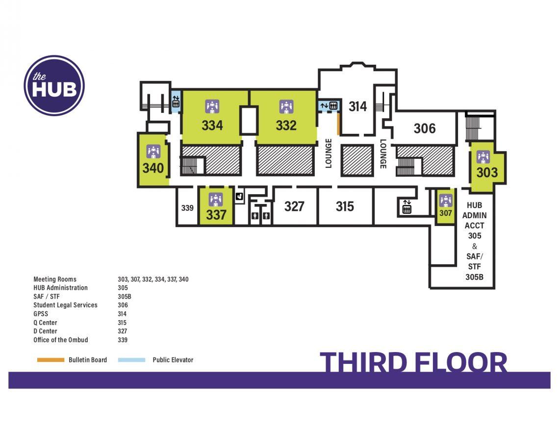 HUB Third Floor Map