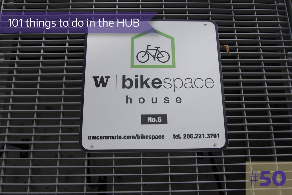 50-1. Rent a Bike Locker, located in the HUB Loading Dock, from UW Transportation Services.