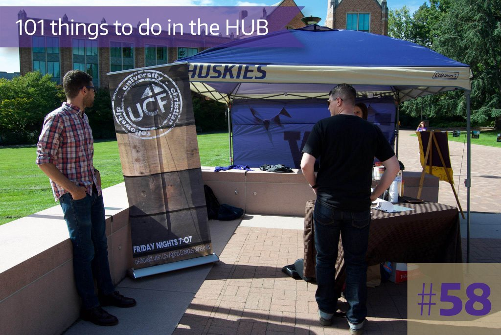 58. Chat with any of the RSOs tabling on the HUB patio or walkway.
