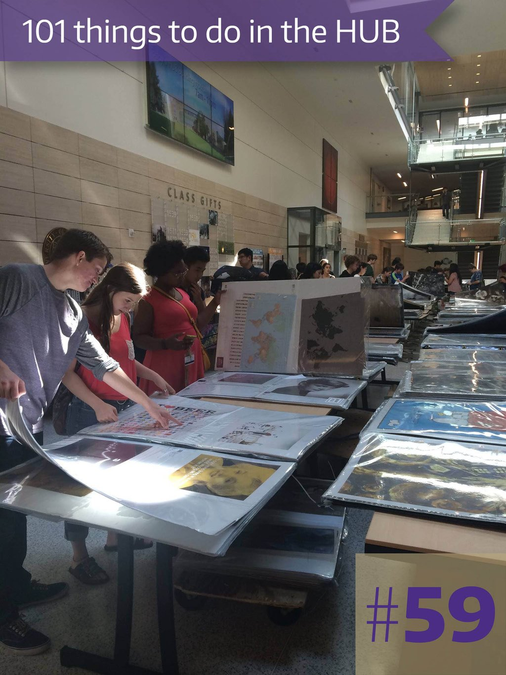59. The Annual Poster Sale supports the HUB Art program.
