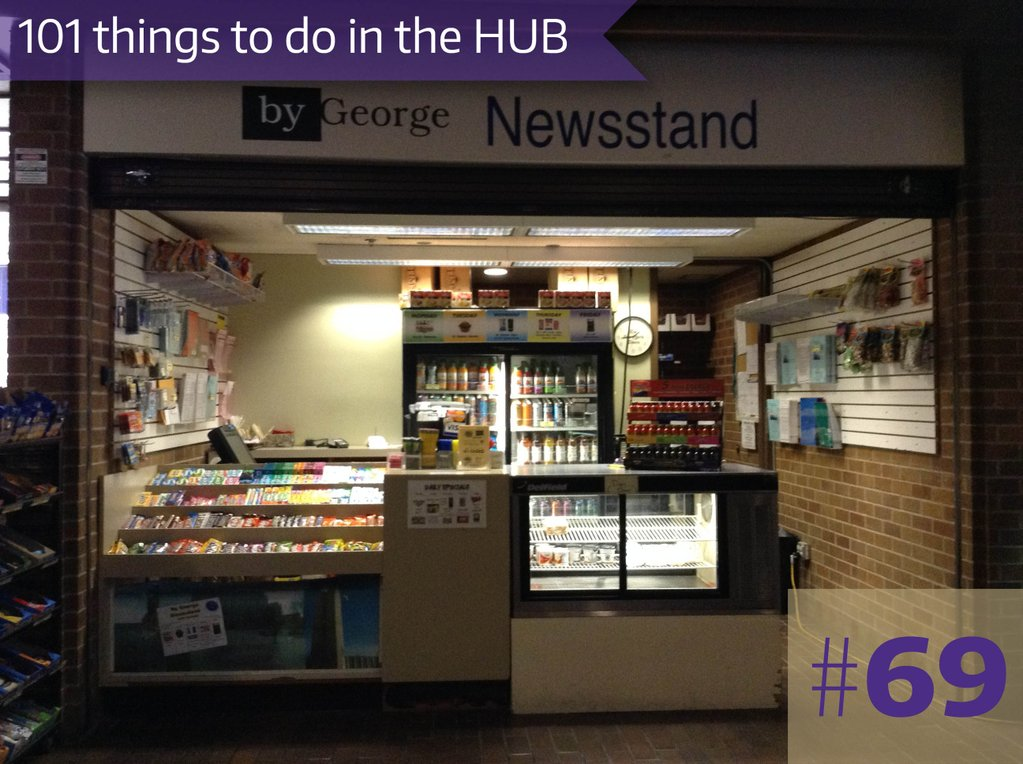 69. But stuff at By George Newsstand - it's part of the HUB!