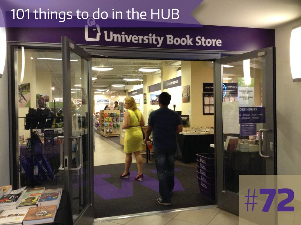 72. Sell your textbooks back to the Book Store in the HUB