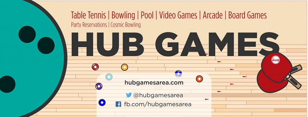 HUB Games: Bowling-Pool-Table Tennis-Video Games