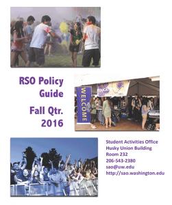 RSO Policy Guide
