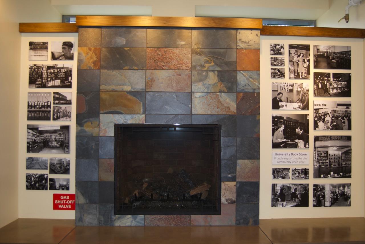 U Book Store Fireplace
