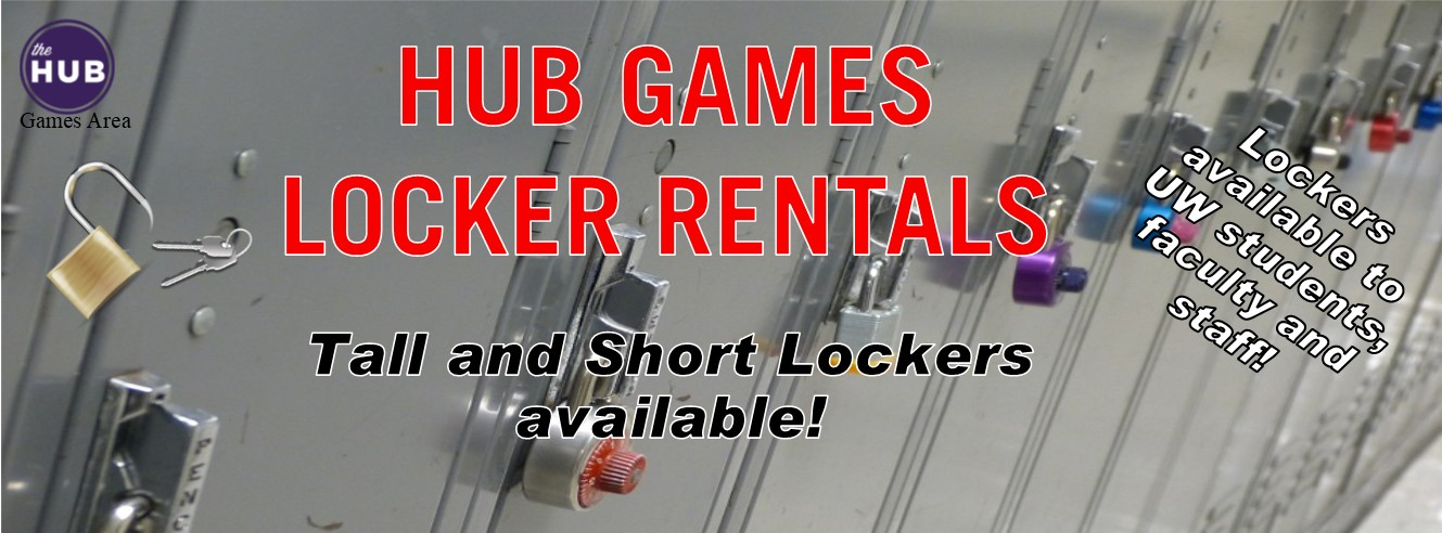 Locker Rental sign without prices (banner)