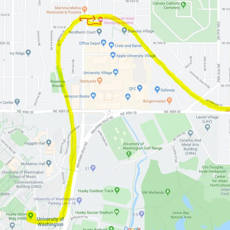 Burke Gilman Trail Map