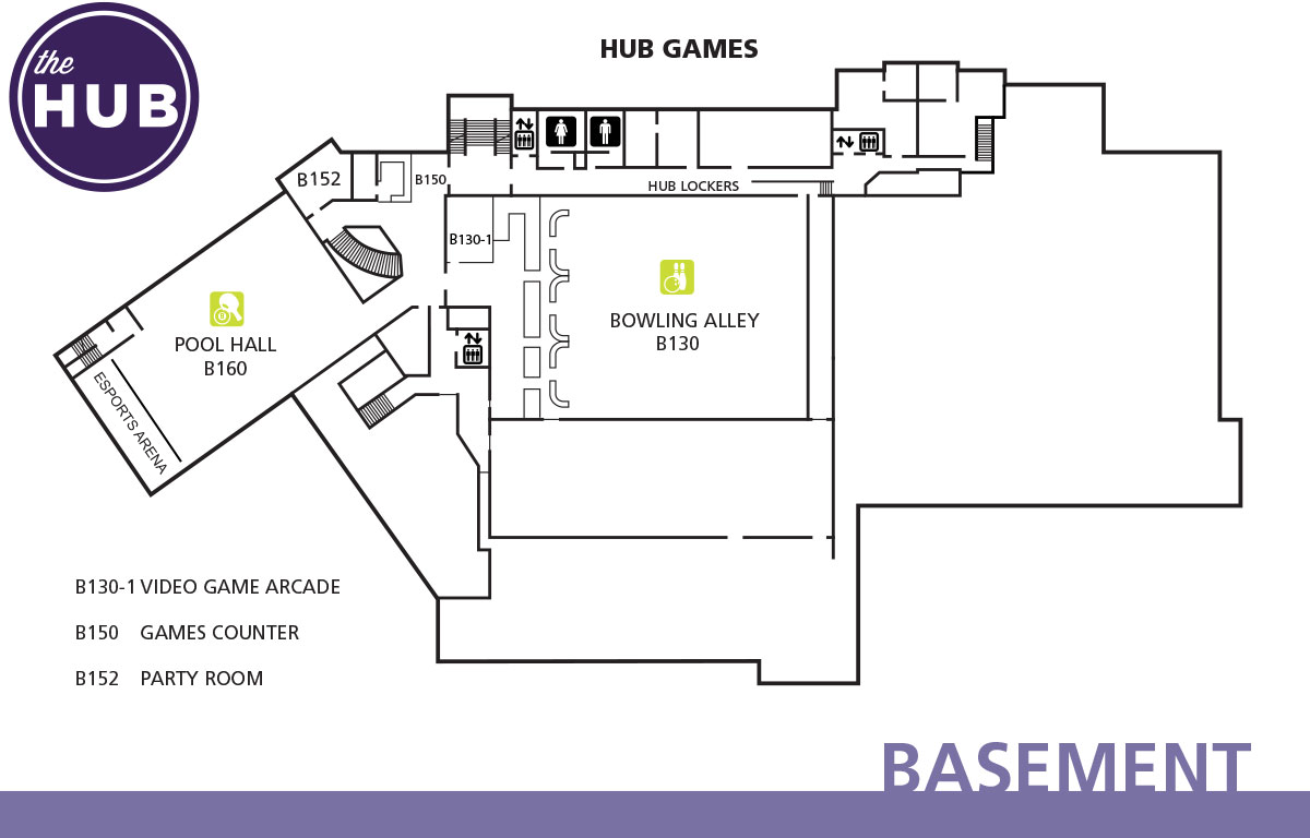 HUB basement floor plan