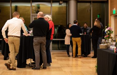 People Chatting in a HUB Ballroom Event
