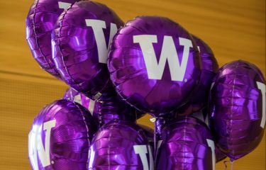Purple Balloons With Ws