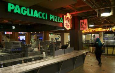 Pagliacci Pizza Sign in The HUB Food Court