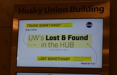 HUB Screen With Lost & Found Information.