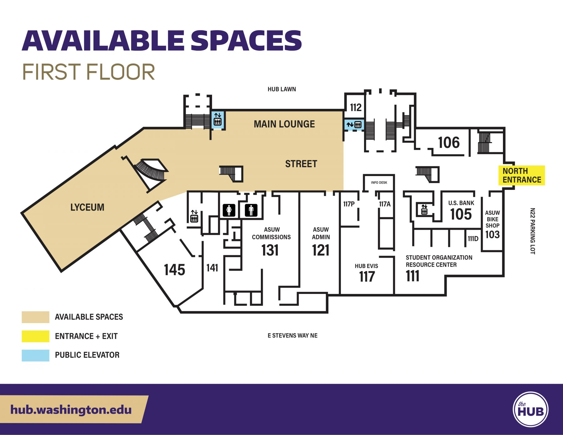 HUB Available Spaces - First Floor