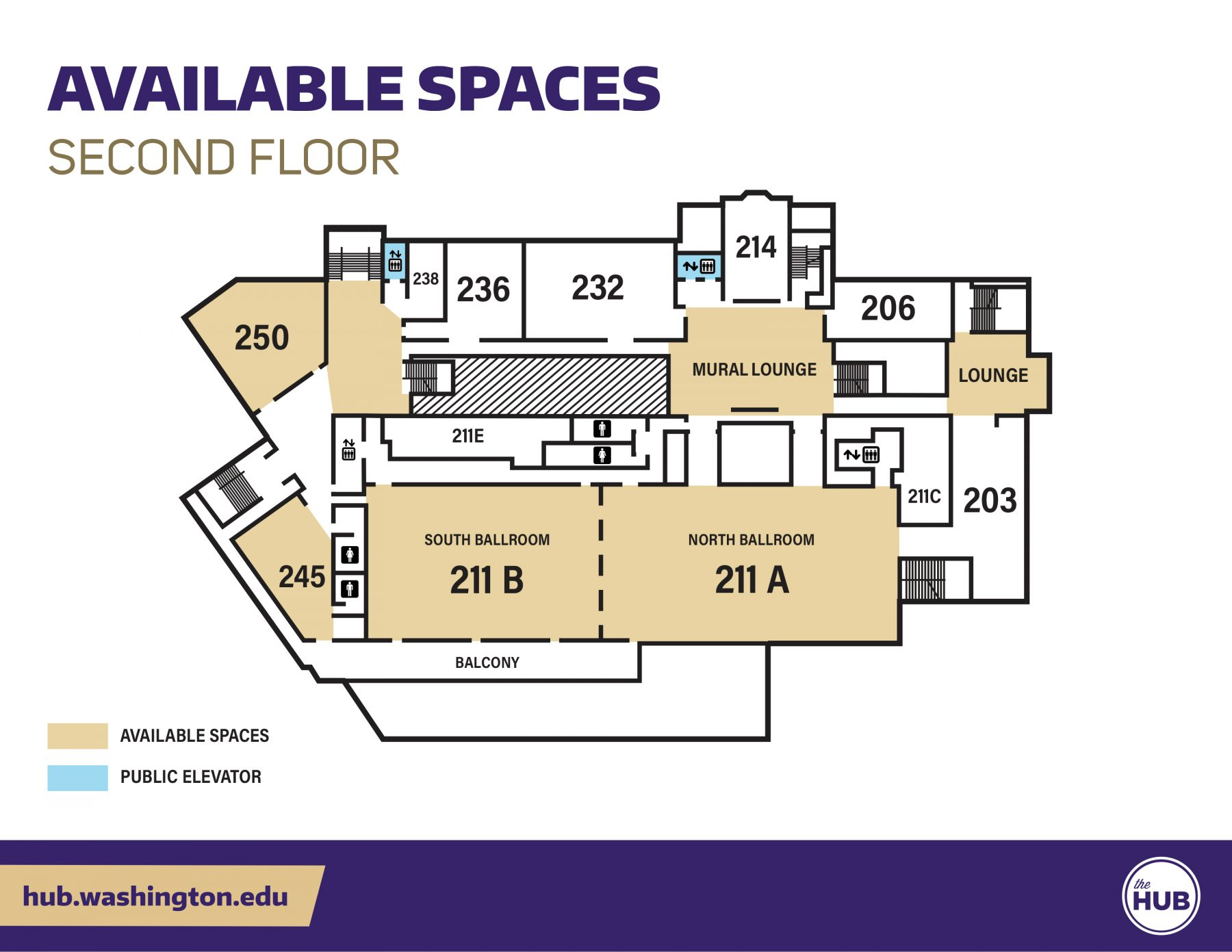 HUB Available Spaces - Second Floor