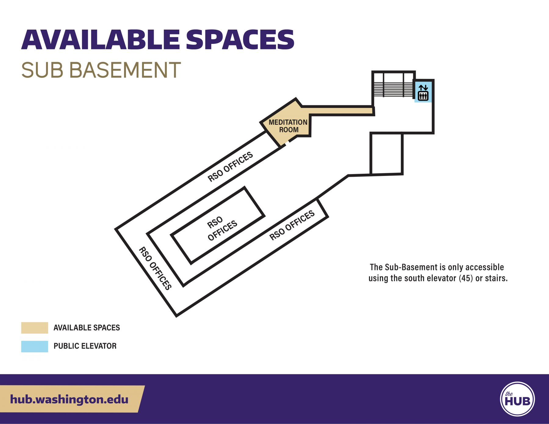 HUB Available Spaces - Sub Basement