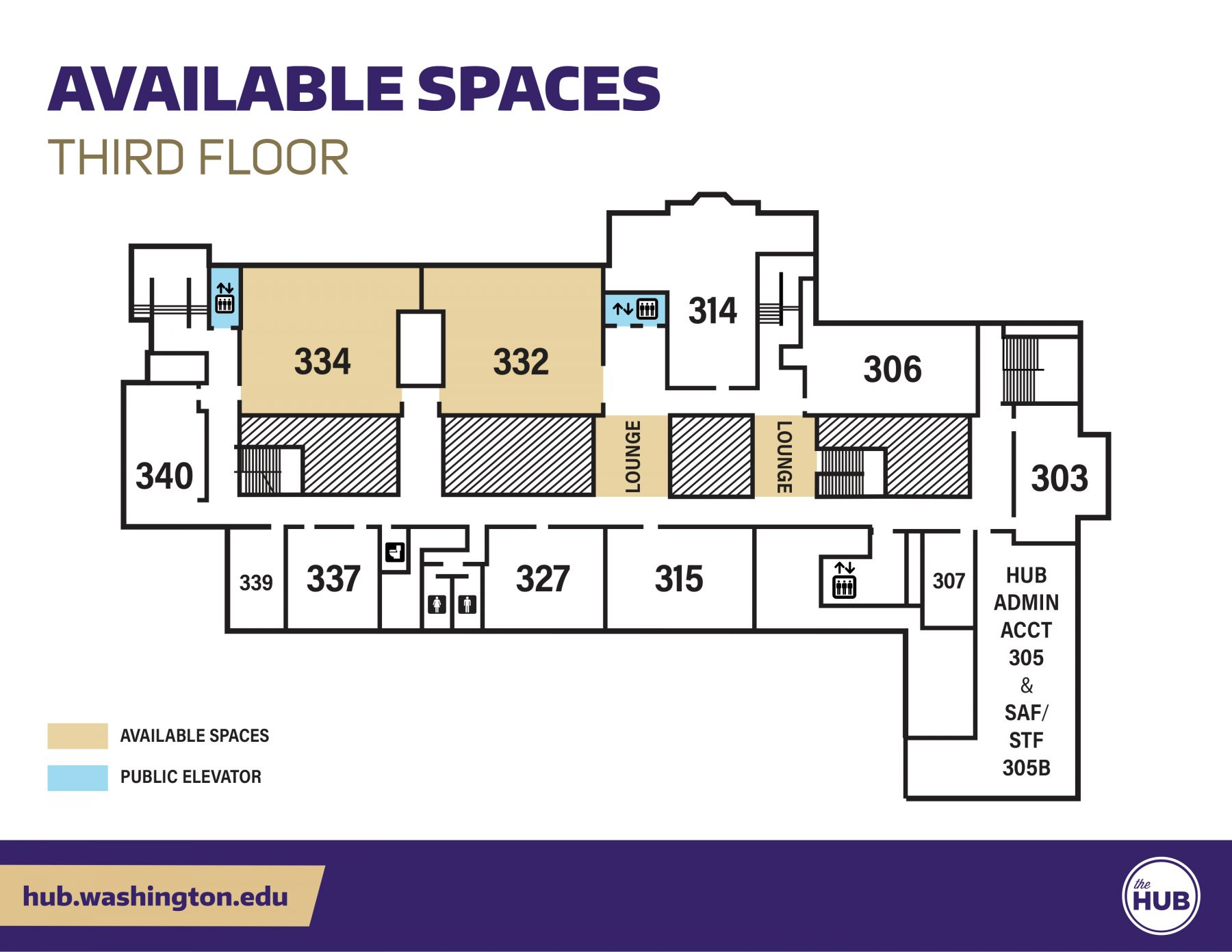 HUB Available Spaces - Third Floor