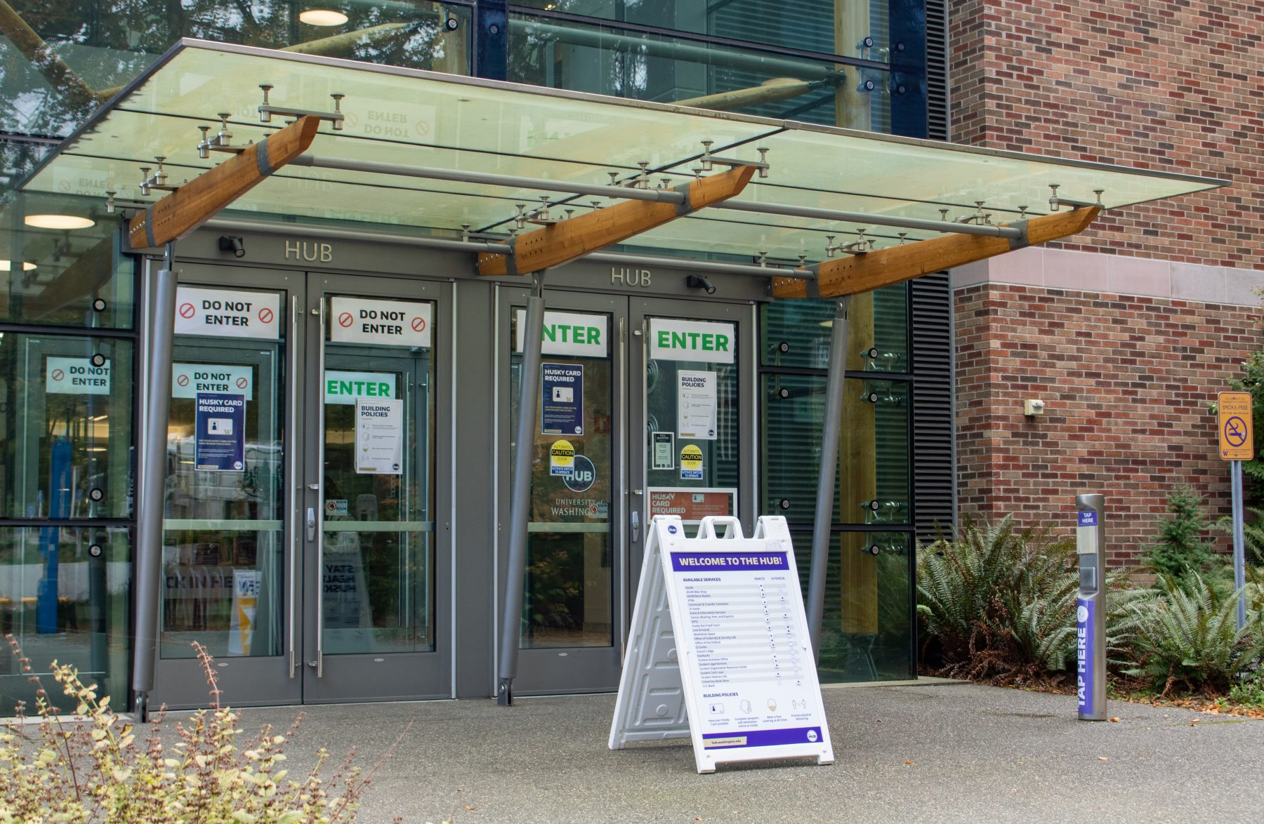 HUB North Entrance