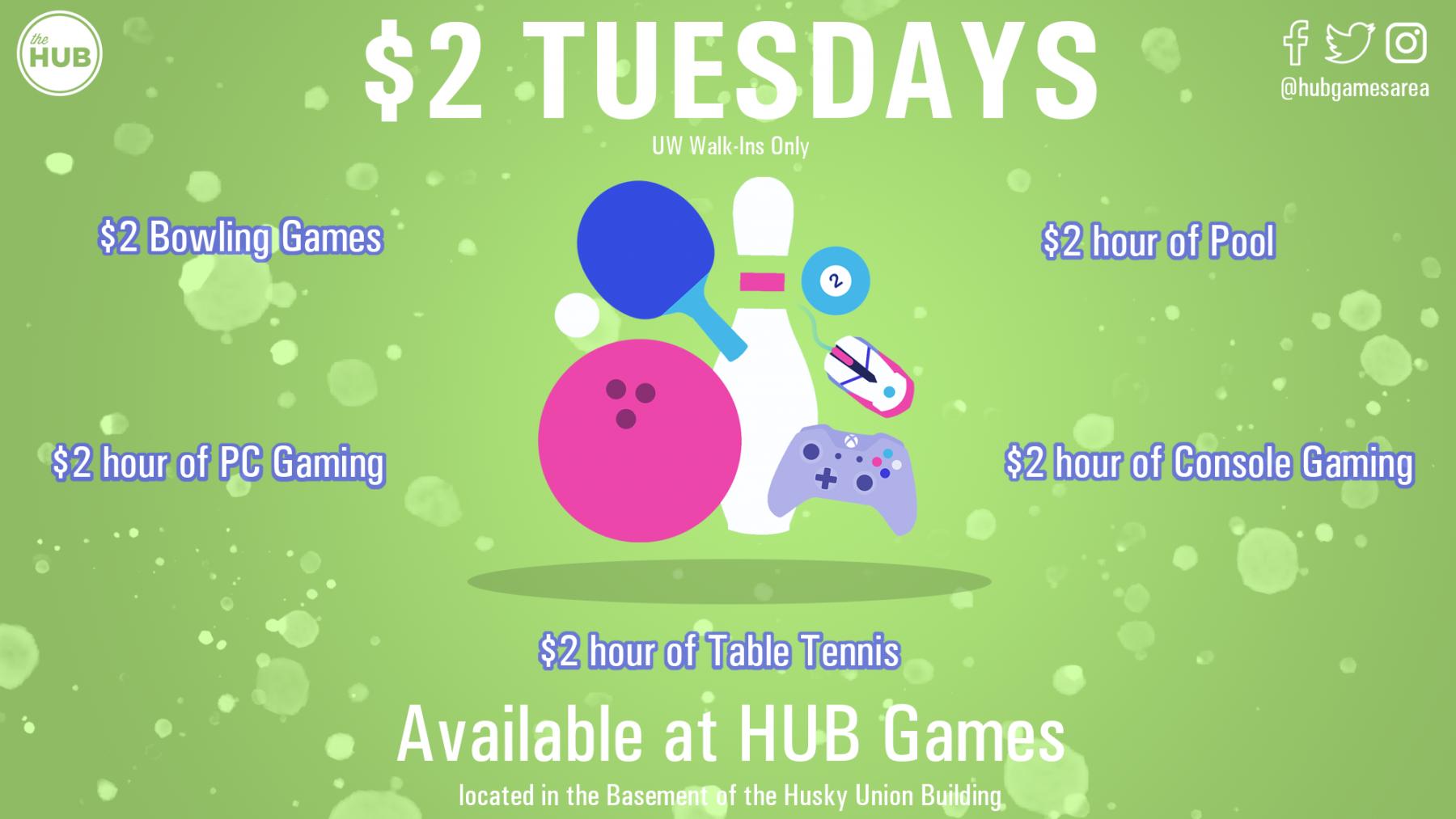 $2 Tuesday Digital Display