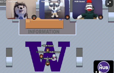 Screenshot of the HUB's Virtual Front Desk