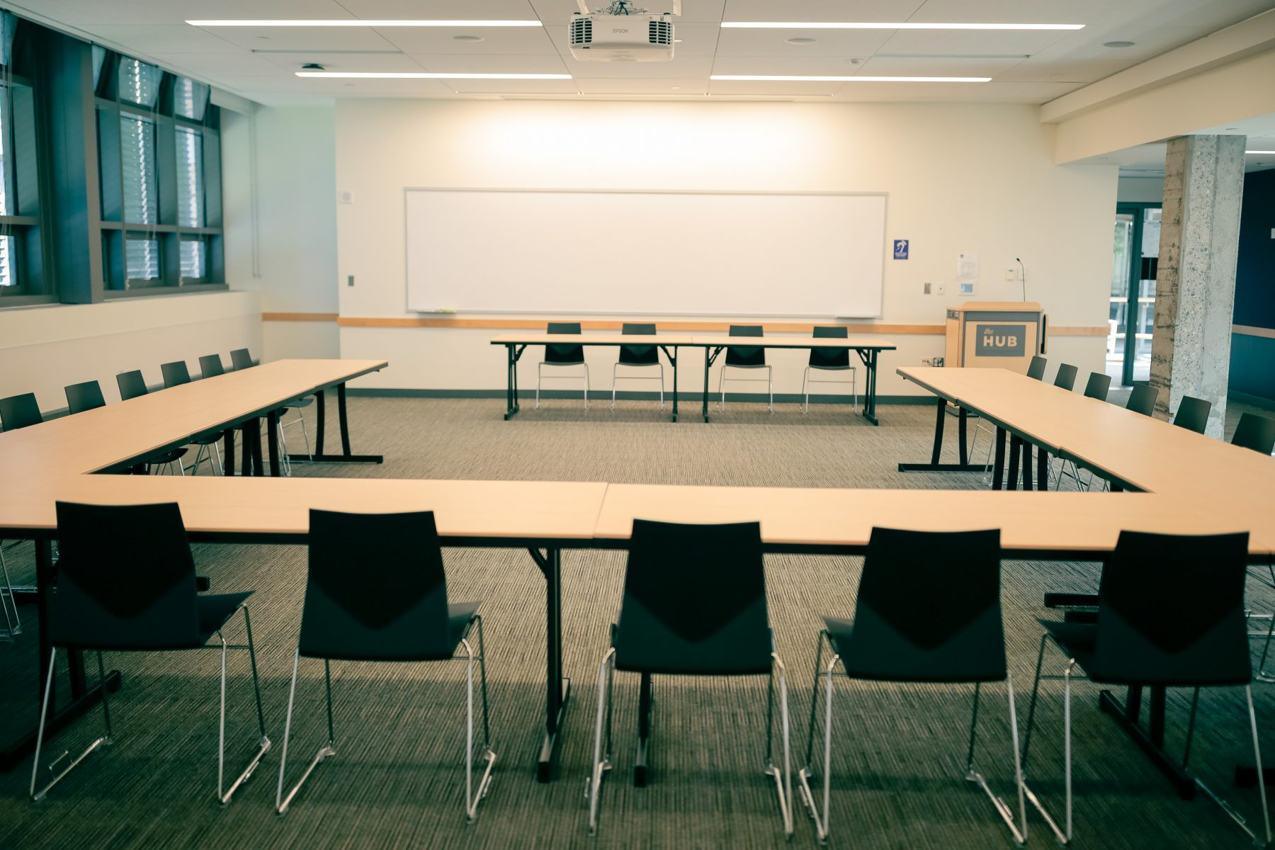 U Shaped Conference set with 2 head tables