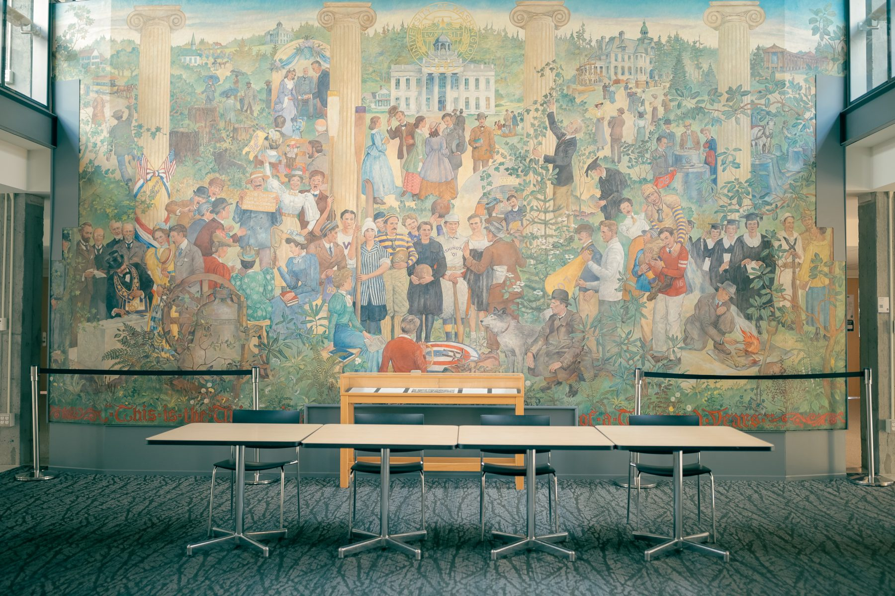 The Mural Lounge is frequently used as a registration area for North Ballroom and Both Ballroom events. Additional rental fees will apply.