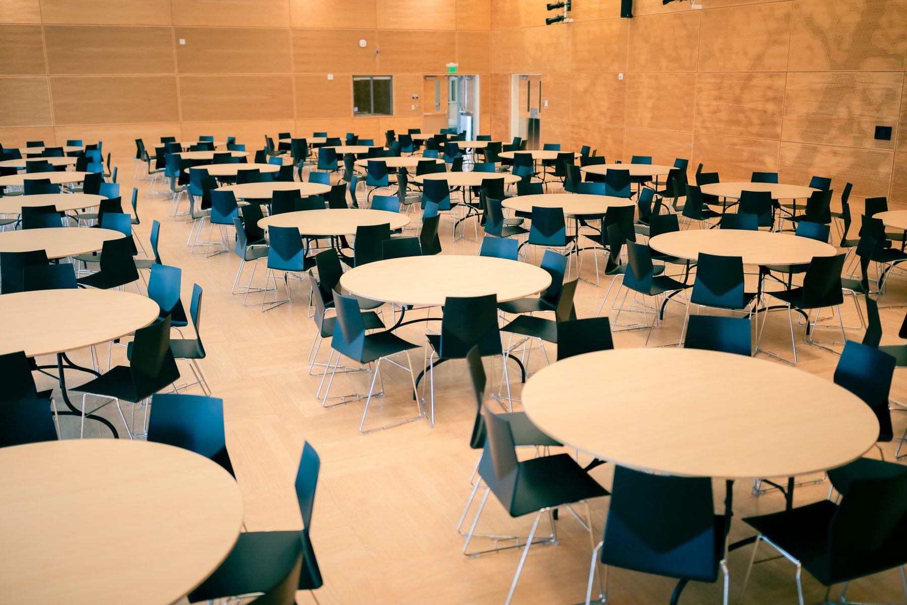 Banquet set in South Ballroom